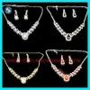 Rhinestone colored 18 carat gold jewelry sets
