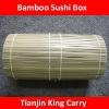 round shape bamboo sushi box
