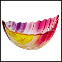 Colorful glass bowl