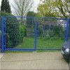 powder coated security fence gate