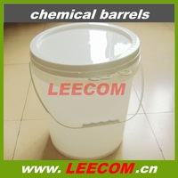 durable white plastic chemical barrels