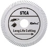 (STCA)4.5'' Slant turbo diamond blade for long life cutting hard material