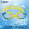 Junior uni-body silicone swimming goggle