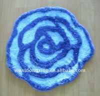 shaped jacquard bath mat