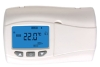 Battery power wireless digital room thermostat