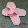 disposable hotel slippers promational white terry towel hotel slipper disposable hotel slippers EVA 4mm 5mm6mm