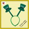 Irish festival st.patrick's hair bows green color party hat headband