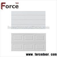 White color of security garage doors steel doors