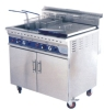 Double tank stand style gas fryer