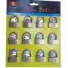 quality brass padlock 40 mm tri-circle brass padlock