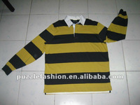 hot sale stripe long sleeves men polo T-shirt