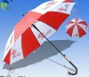 Beautiful Red and White Advertising Umbrella