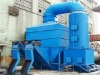 Wet vertical kiln dust collector