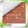 4mm golden color aluminium rhinestone mesh of 145cm*42cm