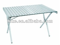 Aluminum slats table