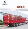 40feet 3axle gooseneck bin column semi trailer/lng semitrialer