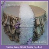 TC001D1 Wedding decoration champagne ruffled table cover