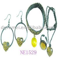 2010 Fashion rhinestone metal Jewelry sets(NE1529)