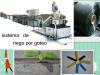 maquinaria para fabricacion de cinta riego por goteo con incrustaciones plano por dentro