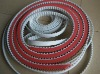 H type pu timing belt with red rubber supergrip