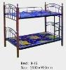 Standard metal dormitory bunk bed