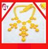 bib bubble resin necklace fashion style