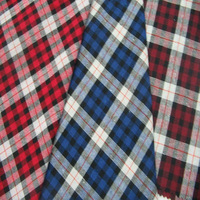 100% Polyester yarn dyed check fabric