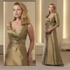 (VMB346) V-Neck Taffeta Sleeveless Beading Zuhair Murad Mother Of Bride Dress