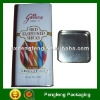 square coffee tin box with insert lid