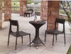 Rattan bar table with chairs