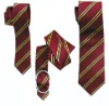 black striped woven jacquard fashionable men's polyester neck tie necktie belt