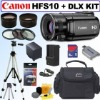 Canon VIXIA HFS10 HD Dual Flash Memory Camcorder + Deluxe Value Accessory Kit