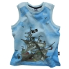 [LEAP] boy's printed Secret Map sleeveless  vests (Red/sky blue/h.l. grey/white)(child garment,kid wear)