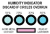 humidity indicator card temperature and humidity test paper