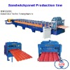 Glazed Steel Tile Roll Forming machine|roll forming machine|sandwich panel machine