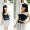 New Korean Japanese Fashion black sleeveless top blouse(Paypal!)strapless camisole