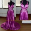 Stunning Halter Evening Dress with Chapel Train SW003