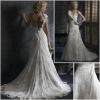 New Style  Elegant One-shoulder  Lace and Satin  Wedding  Gown  YY380