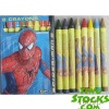 Lot#: k5070003 stocks Spider man 8 Crayons Non Toxic