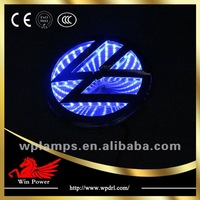 VW Volkswagen 3D led laser auto logo emblem light with names
