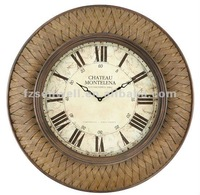 Crimped Frame Wall Clock/Chesterton Iron Wall Clock