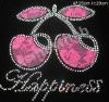 Rhinestone apple transfer design /heat transfer /rhinestone motif /