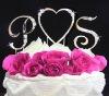 crystals Monogram Wedding cake topper