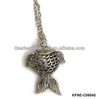 fish shape alloy necklace jewelry