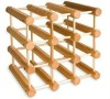 unfinished recycling wooden 12-bottle wine rack unfinished wood rack