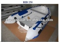 high quality PVC or Hypalon 250 inflatable RIB boat