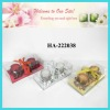 christmas candle with flower candle ring style gift set