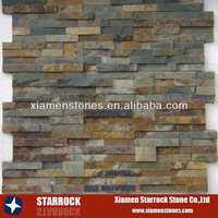 Rustic slate wall cladding