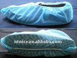 Non-woven blue non-slip shoe covers
