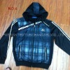 Mens kniting with woven fabric sports jogging suit
